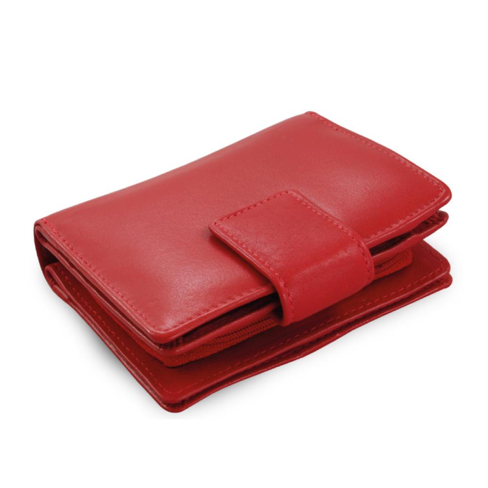d6579df277 Červená dámská kožená peněženka se zápinkou
