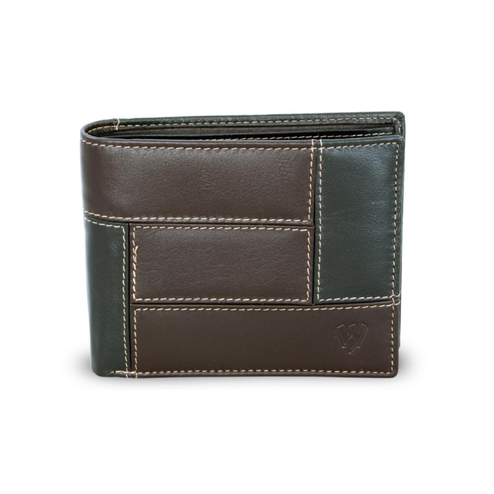pánska kožená peňaženka v kombinácii čierne a hnedej farby 2b9a090ef61